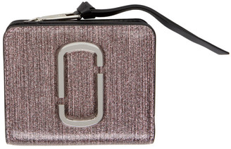 Marc Jacobs Pink Glitter Mini Snapshot Wallet