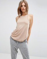 Asos High Neck Swing Cami in Lightweight Jersey