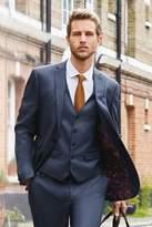 Mens Next Blue Slim Fit Textured Suit: Jacket - Blue