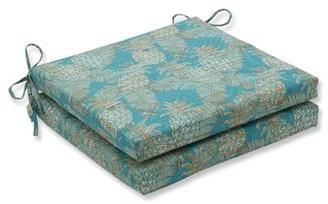 Bay Isle Home Emeline Batik Indoor/Outdoor Dining Chair Cushion Fabric: Lagoon