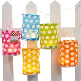 Twos Company Polka Dot Led Lantern - Set of 5