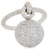Mariani Bellagio Diamond Dangling Ball Ring in 18K White Gold