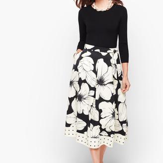 Talbots Primrose Dot Pleated Skirt