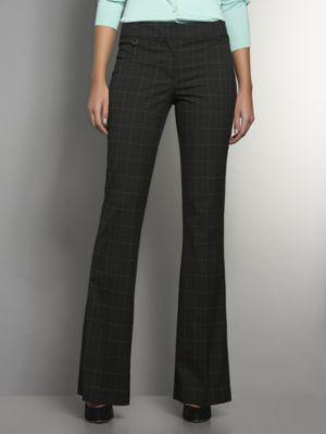 New York & Co. The Crosby Street Tailored Flare Leg Pant - Windowpane Check