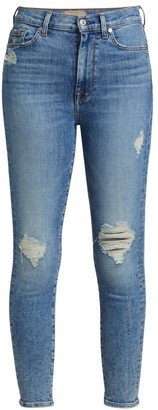 7 For All Mankind Luxe High-Rise Ankle Skinny Jeans