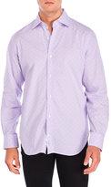 Tailorbyrd Lavender Printed Sport Shirt