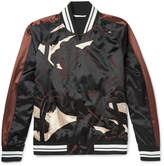 Valentino - Printed Satin Bomber Jacket