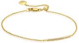 Monica Vinader Skinny Pave Bar Chain Bracelet