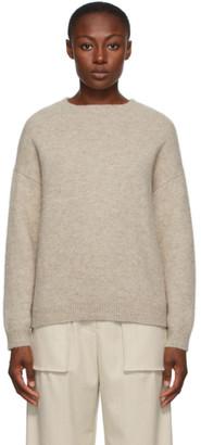 LAUREN MANOOGIAN Beige Alpaca Fluffy Sweater