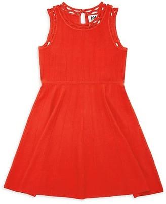 Milly Girl's Lattice-Trim Knit Dress
