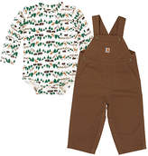Carhartt White Out in the Wild Bodysuit & Canyon Brown Overalls - Infant