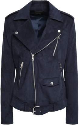 Theory Belted Faux Suede Biker Jacket