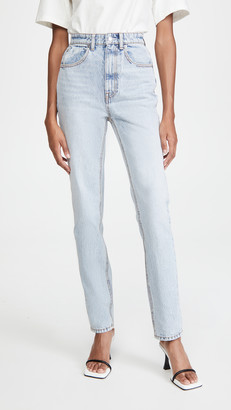 Alexander Wang High Waist Slim Stacked Jeans