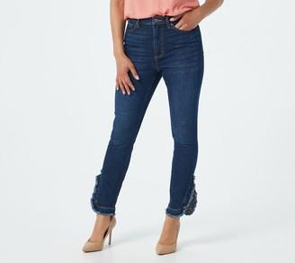 Du Jour Petite Ruffle Hem Ankle Length Jeans