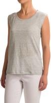 Lucy & Laurel Striped Shirt - Linen, Sleeveless (For Women)