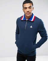 Le Coq Sportif 1/4 Zip Sweatshirt In Blue 1621886