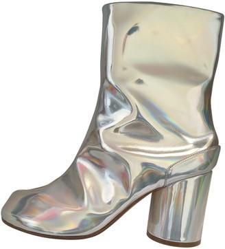 Maison Margiela Tabi Silver Leather Ankle boots