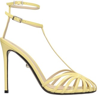 Alevì Alevi Stella 110 Sandals In Yellow Patent Leather