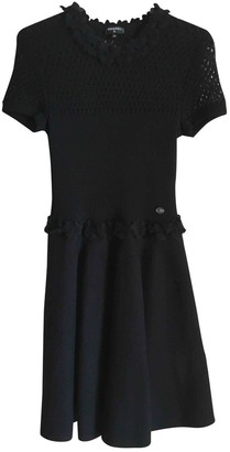 Chanel Black Wool Dresses