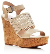 French Connection Devi Cork Platform Wedge Sandals