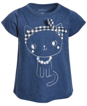 First Impressions Toddler Girls Blue Cat T-Shirt, Created for Macy's