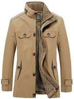HengJia Men's Field Jacket Casual Windbreaker & Trench Jacket X-Small