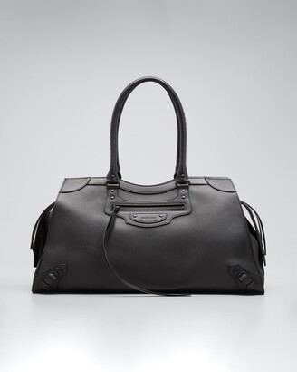 Balenciaga Neo Classic Large Grained Leather Weekender Satchel