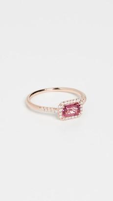 Suzanne Kalan 14k Rose Gold Hexagon & Pave Diamond Ring
