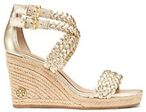 Tory Burch Bailey Metallic Ankle Strap Espadrilles Wedges