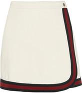 Gucci Stripe-trimmed Jersey Mini Skirt - White