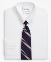 Brooks Brothers Luxury Collection Milano Slim-Fit Dress Shirt, Button-Down Collar Textured