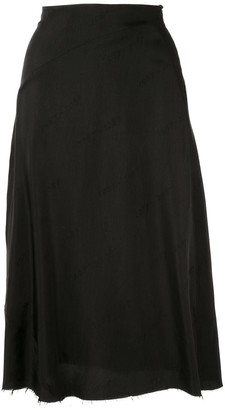 Yang Li Distressed Hem Skirt