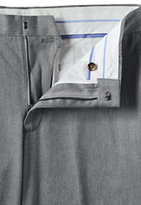 Lands' End Men's Plain Front Traditional Fit No Iron Twill Dress Pants-Pewter Heather