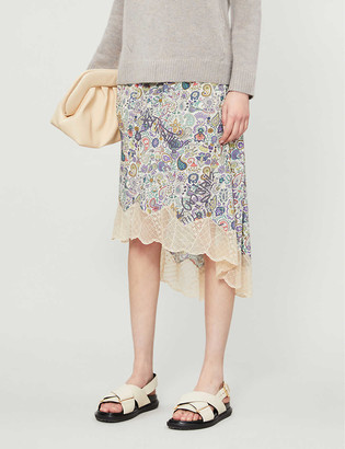 Zadig & Voltaire Joslin graphic-print crepe midi skirt