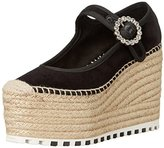 Marc by Marc Jacobs Women's Anjelica 120MM Mary Jane Espadrille Wedge Sandal