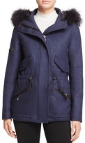 SAM. Mini Delancey Fur Trim Coat