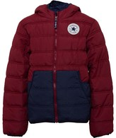 Converse Junior Boys Padded Jacket Red Block