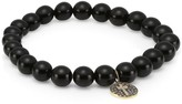 Sydney Evan Men's 14K Yellow Gold, Diamond, Brown Diamond & Onyx Cross Beaded Bracelet