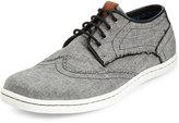 Ben Sherman Nick Wing-Tip Lace-Up Sneaker, Black Chambray