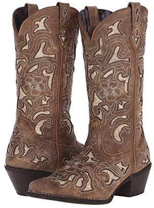 Laredo Sharona (Tan Crackle) Cowboy Boots