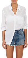 OndadeMar WOMEN'S EMBROIDERED-YOKE COVER-UP SHIRT