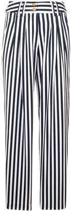 Balmain high-waist striped trousers
