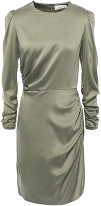 Zimmermann Ruched Stretch-silk Charmeuse Mini Dress