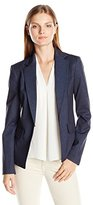 Jones New York Women's Indigo Single Closure Blazer