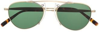 Matsuda Two-Tone Aviator-Frame Sunglasses