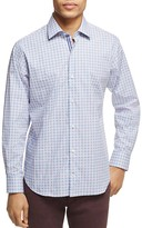 Tailorbyrd Boxwood Tile Print Classic Fit Button-Down Shirt