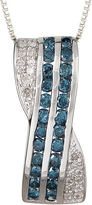 FINE JEWELRY LIMITED QUANTITIES 3/4 CT. T.W. White and Color-Enhanced Blue Diamond Pendant Necklace