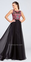 Ellie Wilde for Mon Cheri Embroidered Chiffon A Line Prom Dress