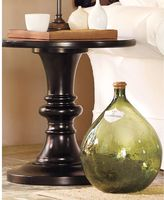 Rustic Pedestal Accent Table