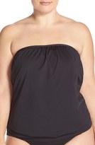 Tommy Bahama Plus Size Women's Pearl Bandini Blouson Tankini Top